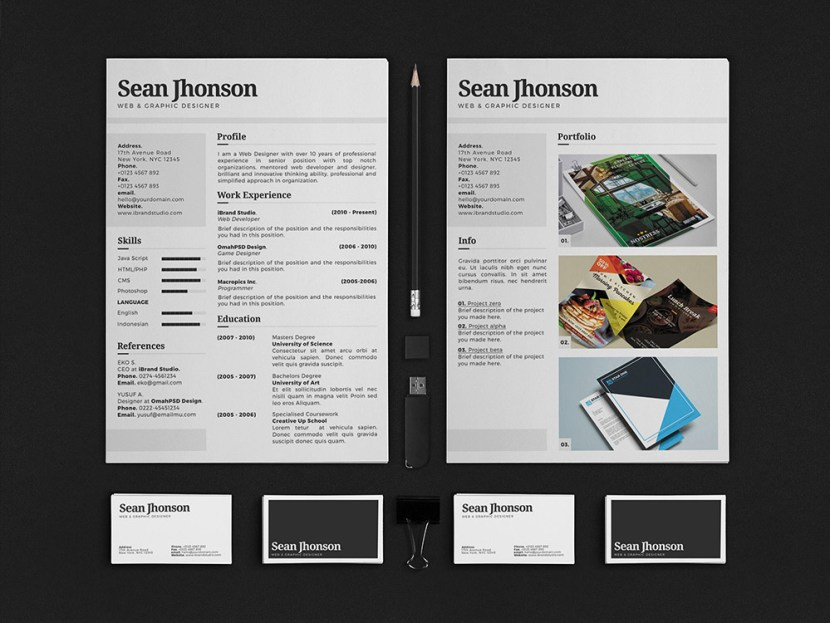 Free Personal Identity Resume Template