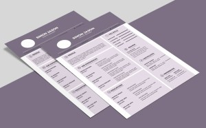 Free Purple Resume Template