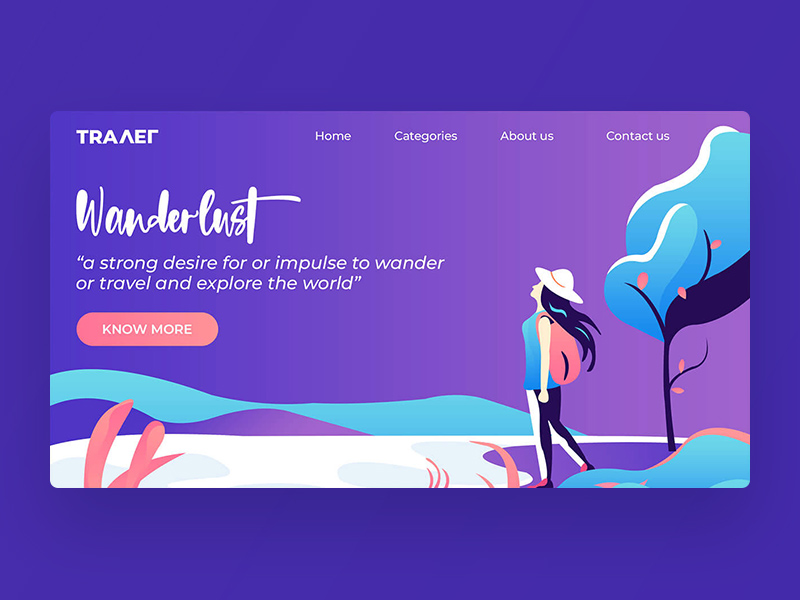 Free Travel Website Adobe XD Template