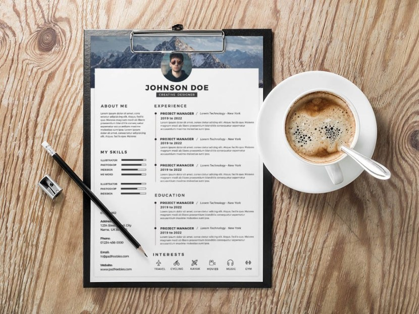 Free Clean Timeline Resume Template