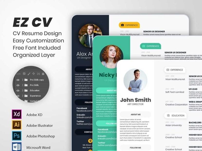 Free Typographic Resume Template