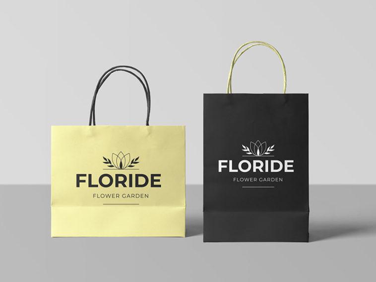 Vertical and Horizontal Shopping Bag Mockup