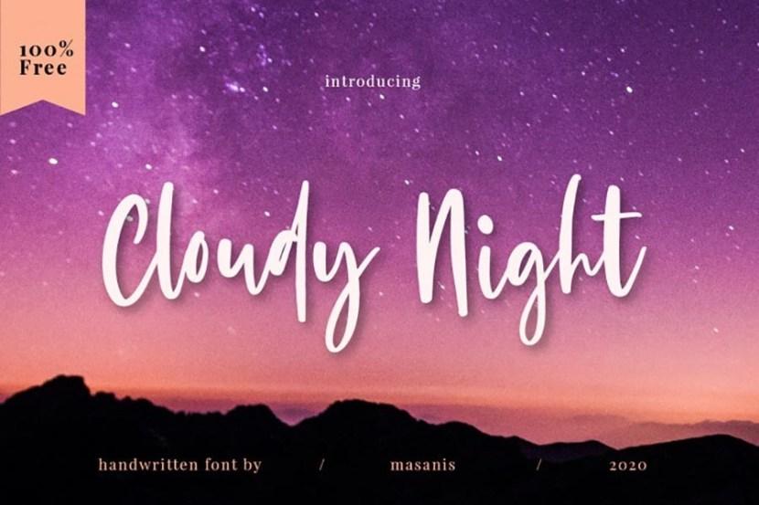 Cloudy Night – Free Script Font