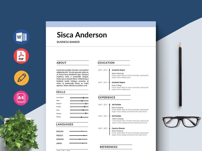 Free Business Banker Resume Template