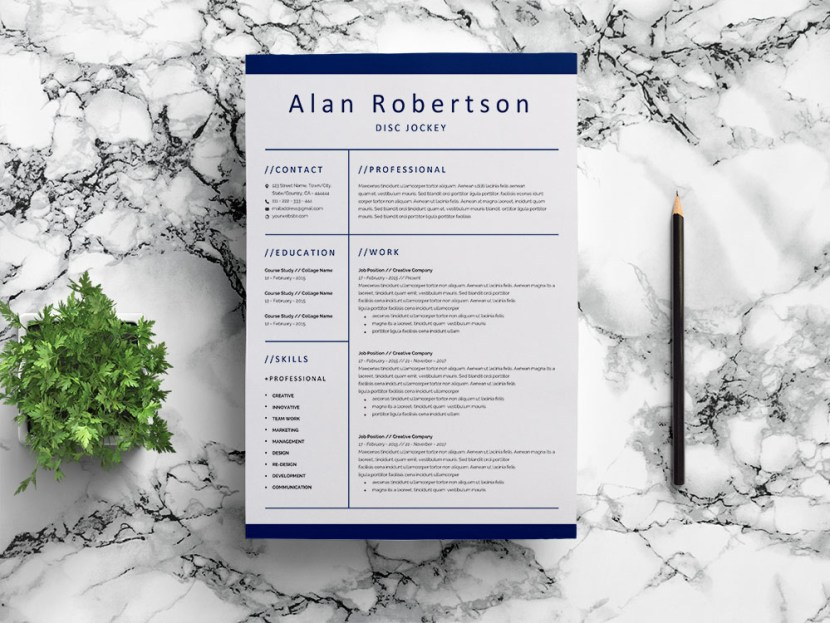 Free Disc Jockey (DJ) Resume Template