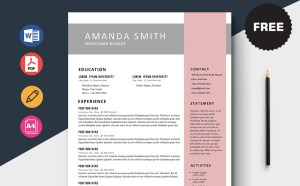 Free Mortgage Banker CV/Resume Template