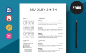 Free Mortgage Broker CV/Resume Template