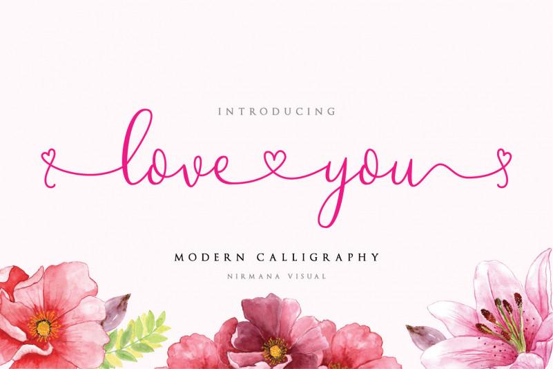 Loveyou – Free Romantic Font