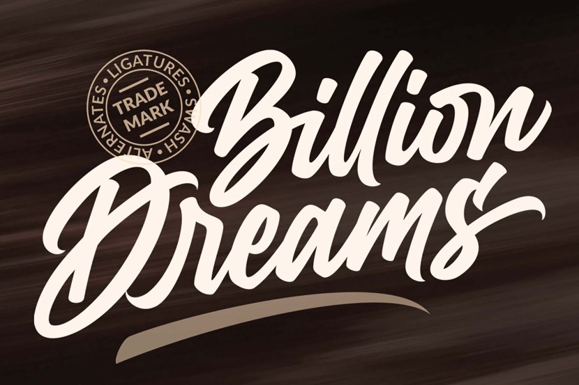 Billion Dreams Font