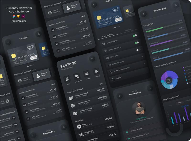 Free Currency Converter App UI (Figma)