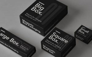 Free Magnetic Box Mockup