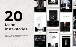 Free Mono Instagram Stories Templates