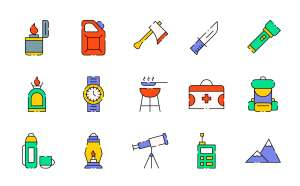 Free Vector Camping Vector Icons