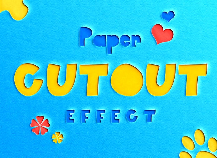 Free Paper Cut-Out Text Effect