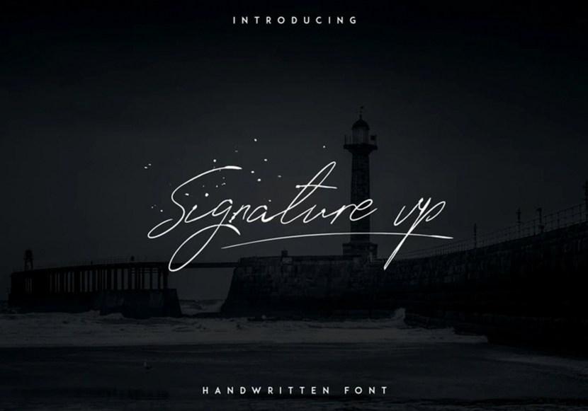 Signature VP – Free Handwritten Font