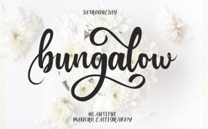 Bungalow – Free Modern Script Font