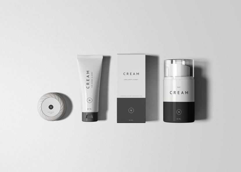 Free Cosmetics Packaging Mockup Set