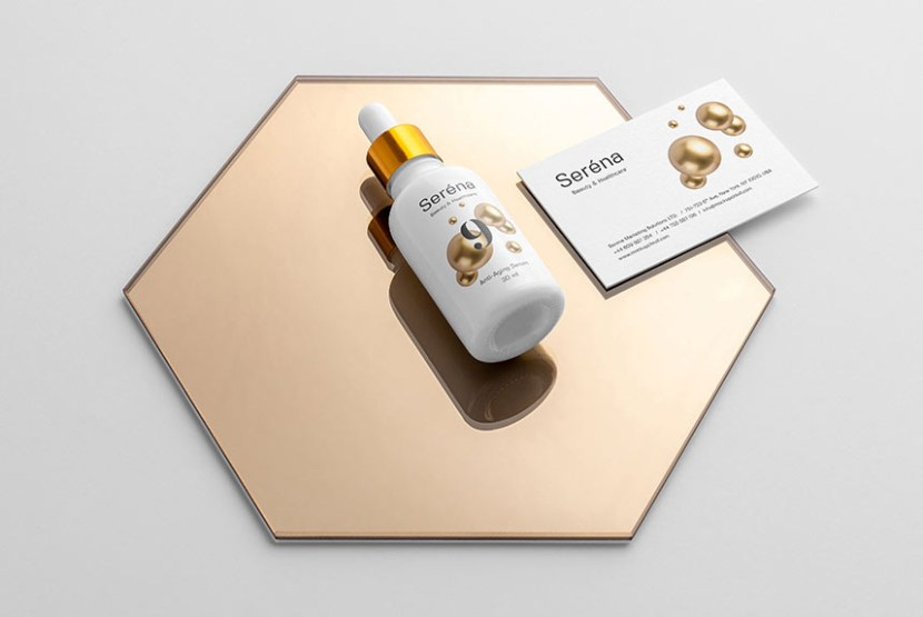 Free Elegant Cosmetics Branding Mockup