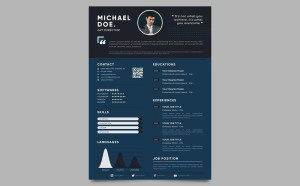 Free Elegant Infographic Resume Template