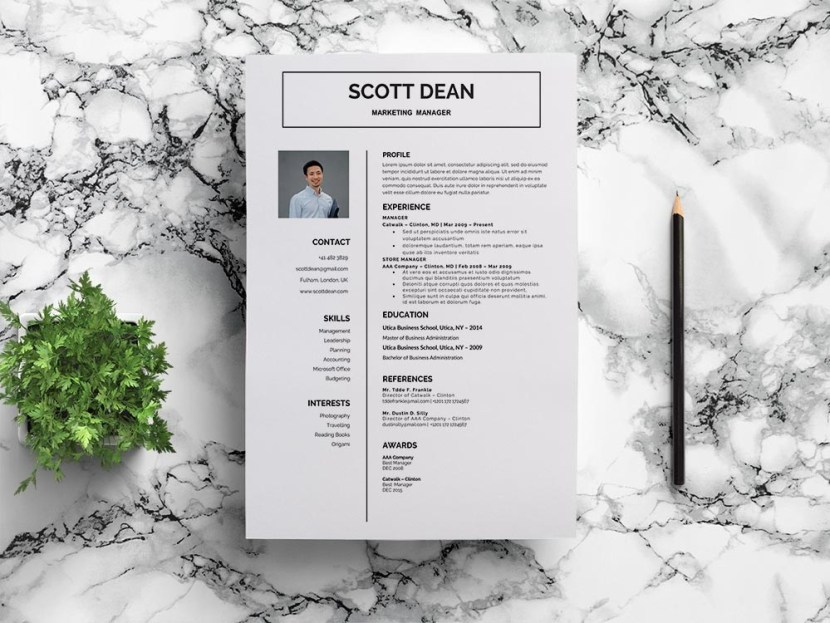 Free Marketing Manager Curriculum Vitae Template