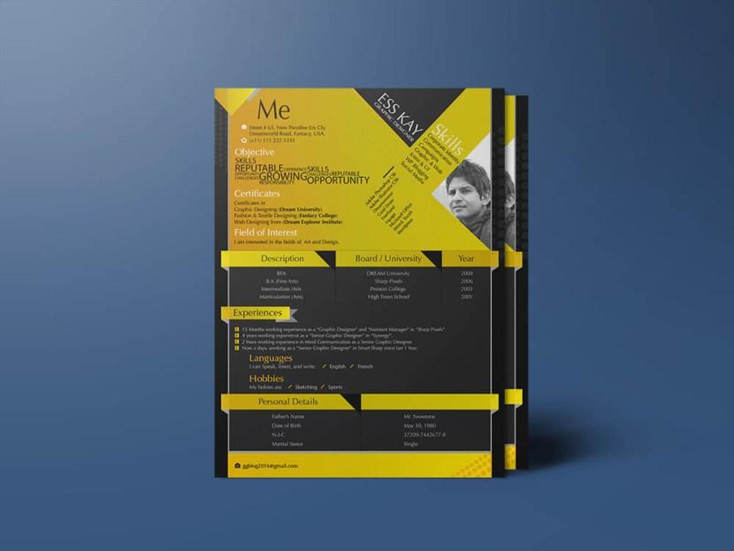 Free Modern Resume Template for Designer