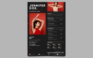 Free Professional Model Resume Template