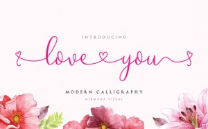 Loveyou – Free Romantic Typeface