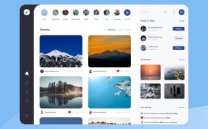 Free Photographers Social Network Website Template
