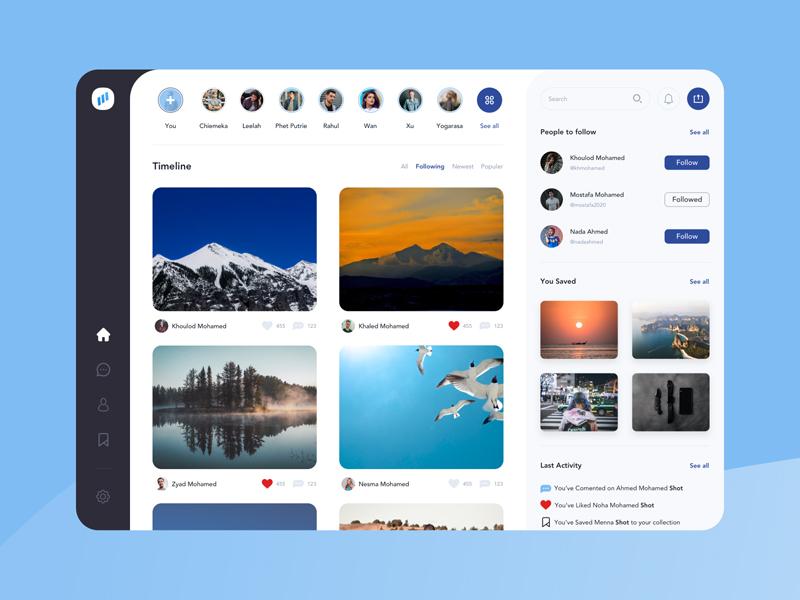 Free Photographers Social Network Website Template