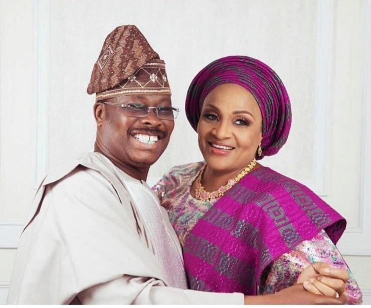late abiola ajimobi and wife, florence ajimobi