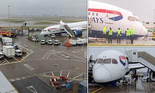 British Airways plane collapses