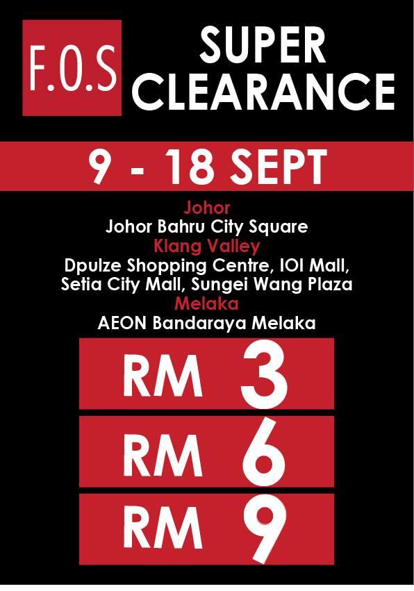 F.O.S RM3 Super Clearance Sale