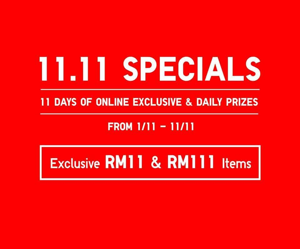 UNIQLO 11 11 Special Promotion