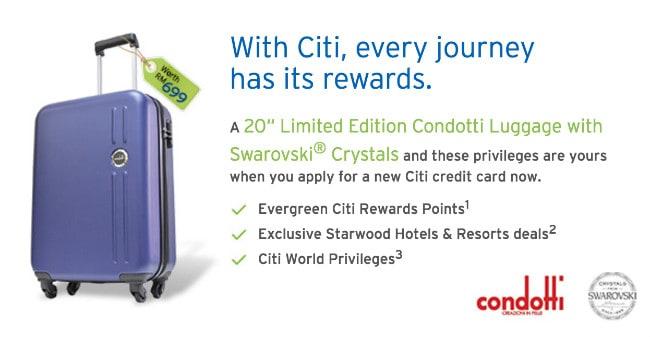 CitiBank Credit Card FREE Luggage