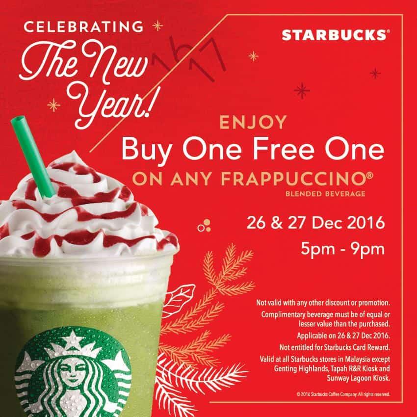 Starbucks Buy One Free One