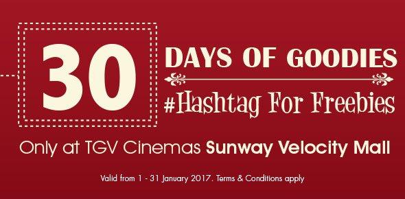 TGV FREE movie ticket and Popcorn in Sunway Velocity