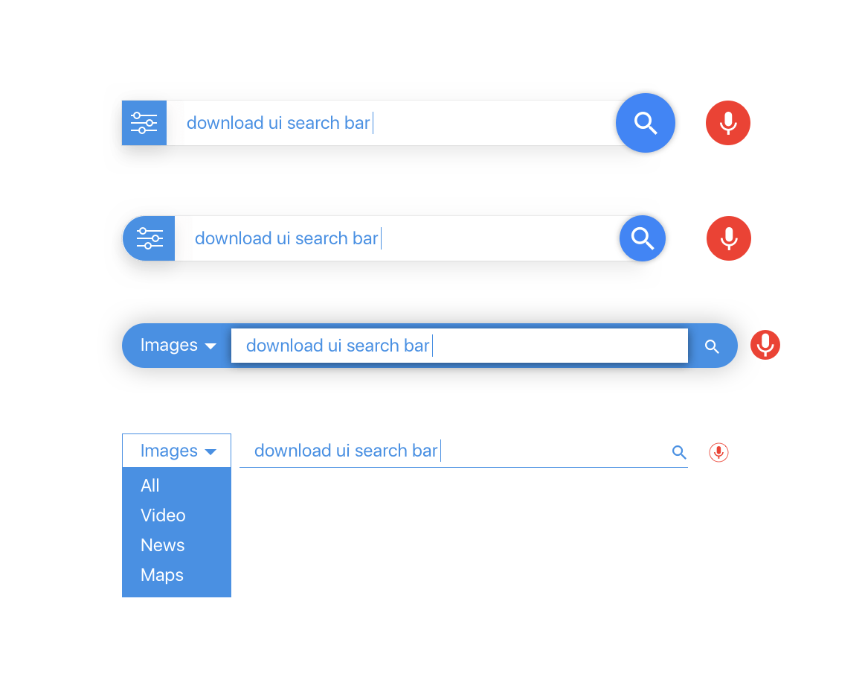 Search Bar UI Design For Sketch, Adobe Xd, Illustrator
