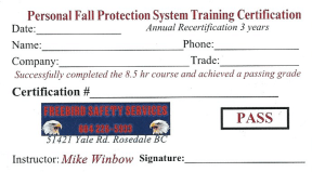 Personal Fall Protection Training for Construction Workers