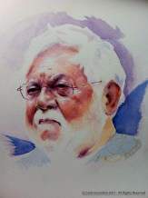 Man - Watercolours on Paper -