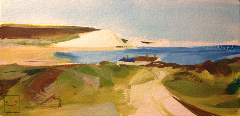 Seascape - Watercolours on Paper -