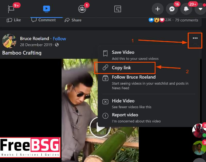 Download videos from facebook-FreeBSG