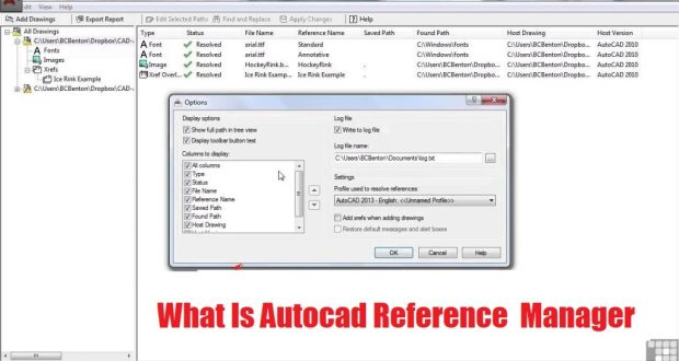 What Is Autocad Reference Manager And Autocad Major