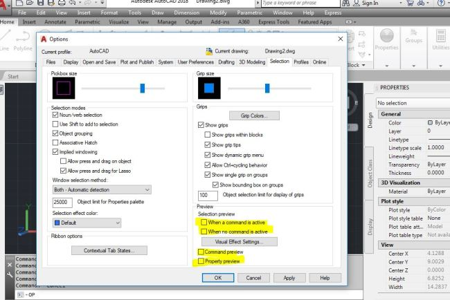 SELECTIONPREVIEW-Speed-Up-AutoCAD-Performance