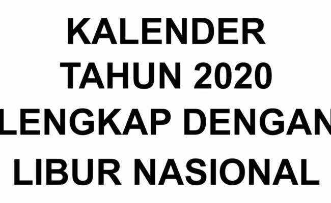 Kalendar Tahun 2020 Calendar For Planning