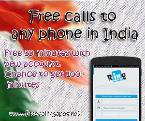 30 minutes free calls to India.
