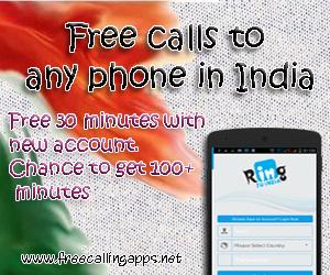 free calls to india