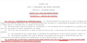 Texas Estates Code Section 1055.003 Intervention by Interested Parties