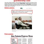 April 12, 2019 San Antonio Express-News online coverage of John MacCormack's article in Charlie Thrash's case, compared to same article titling for the Frontpage of the April 13, 2019 print edition of thte San Antonio Express-News.