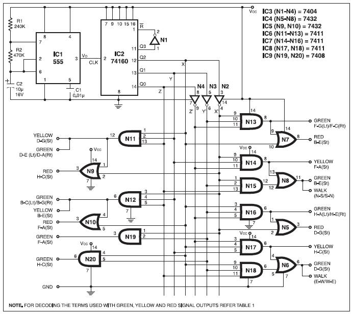 traffic signals circuit diagram