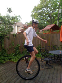 One of my first rides on my new Nightrider Pro Unicycle